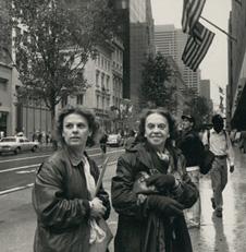 Sophia com a filha Sofia, em Nova Iorque. Fotografia de Pepe Diniz, 1991