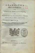 Gramatica Filosofica, Jeronimo Soares Barbosa